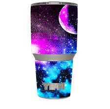 Skin Decal For Yeti 30 Oz Rambler Tumbler Galaxy Fluorescent 650045339353 Ebay