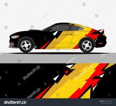 Racing Car Decals Sport Vehicle Vinyl Stock Vector Royalty Free 1370566823