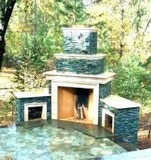 fireplace excellent backyard ideas