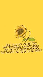 yellow flower aesthetic quotes hd