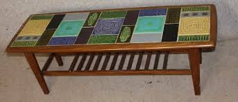 retro 1960 s tiled top coffee table