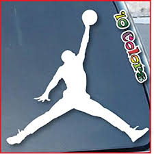 Amazon Com Air Jordan Car Window Vinyl Decal Sticker 9 Wide Color White Automotive