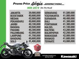 daftar harga kawasaki ninja 250sl