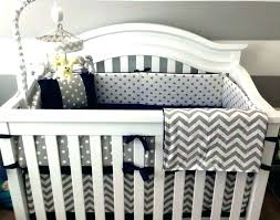 grey and white nursery bedding