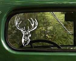 Amazon Com Whitetailed Deer Decal Buck With Antlers Stickers White For Window Car Truck Jeep Laptop Bumper Rv Home Kitchen