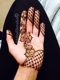 Lace Mehndi And Simple Strip Henna Henna Hand Henna Henna Designs