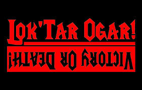 Amazon Com Lok Tar Ogar Decal Victory Or Death Sticker For The Horde Bumper Sticker Wow Decal H 4 5 By L 12 Inches Red Automotive