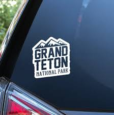 Grand Teton National Park Sticker For Car Window Bumper Or Etsy