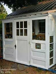 garden shed idea using 3 old repurposed
