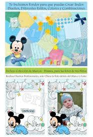 Kit Imprimible Mickey Mouse Bebe Invitaciones Tarjetas 750 00
