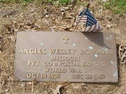 Angles Wesley Bowman (1895-1963) - Find A Grave Memorial