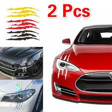 2pcs Auto Car Sticker Reflective Monster Claw Scratch Stripe Marks Headlight Decal Car Decoration Diy Wish
