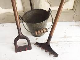 gardening tools in antique garden tools