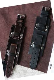 leather watch strap military cuff