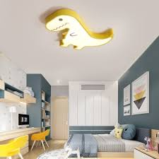 Metal Dinosaur Flush Mount Lighting Cartoon Led Kids Room Ceiling Light Fixture Takeluckhome Com