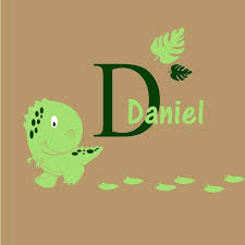 Decalthewalls Baby Dinosaur With Personalized Name And Initial Wall Decal Wayfair