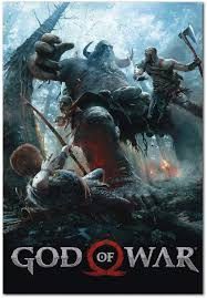 Amazon.com: Printing Pira - God of War PS4 Poster 2018 (24x36): Posters &  Prints