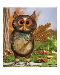 owl bird metal sculpture garden statue