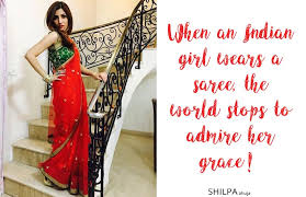 saree quotes for instagram caption for traditional look for