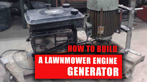 lawnmower engine generator