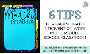tips for making math intervention work