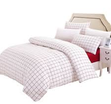 susybao gingham bedding queen size red