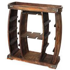 bottle brown rustic wooden wine rack
