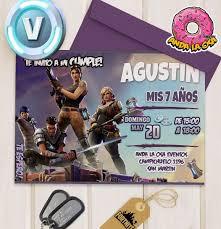 Tarjetas Invitaciones Cumpleanos Fortnite X 10uni 60 00 En Mercado Libre