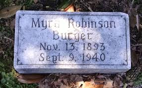 Myra Robinson Burger (1893-1940) - Find A Grave Memorial