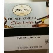 french vanilla chai latte