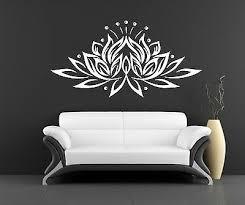 Flower Wall Decals Lotus Vinyl Sticker Buddha Decal Home Decor Yoga Studio L624