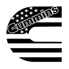 Dodge Cummins C American Usa Flag Decal Sticker For Window Truck Yeti