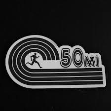Other Fitness Clothing Sporting Goods 50k Ultra Marathon Decal Sticker Runner Run New Design 3 5