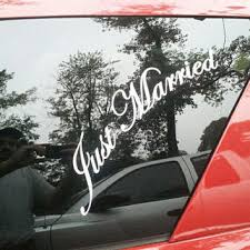 Just Married Vinyl Lettering Car Decal From Aimvinylsigns On Etsy