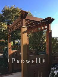 prowell s custom wood arbor trellis 19