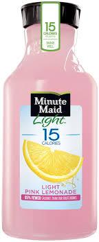minute maid light pink lemonade 52