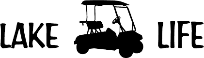 Amazon Com Lake Life With A Golf Cart Sticker Decal Available In All Colors Just Message Me Everything Else