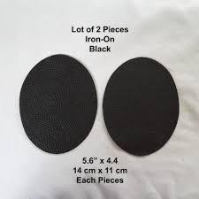 2pcs black faux leather diy clothing