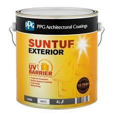 Ppg Suntuf 4l Gloss White Exterior Paint Bunnings Warehouse