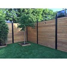 Slipfence Slipfence Horizontal System 1 5 In X 1 5 In X 5 83 Ft Black Aluminum Wood Fence Rail Lowes Com In 2020 Aluminum Fence Fence Design Cheap Fence