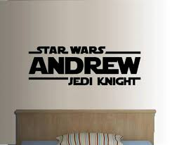 Star Wars Jedi Knight Personalized Custom Name Quote Vinyl Wall Decal Sticker Sticker Alphabet Decal Skin Stickerdecal Banner Aliexpress