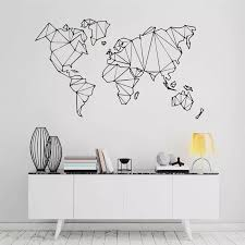 Map World Geography Wall Stickers Living Room Bedroom Removable Wall Decals Vinyl Mural Earth Sticker Home Decor Wall Stickers Aliexpress