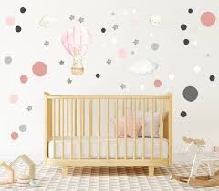 Bunny Hot Air Balloon Nursery Bunny Decal Bunny Fabric Decal Nursery Air Balloon Decor Bunny Wall Stickers Baby Wall Stickers Clings In 2020 Baby Wall Stickers Baby Room Decals Hot Air