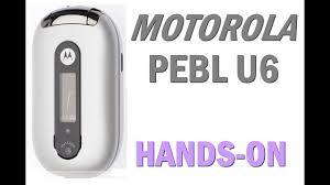 Motorola Pebl U6 - YouTube