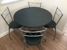 oslo round dining table 4 chairs