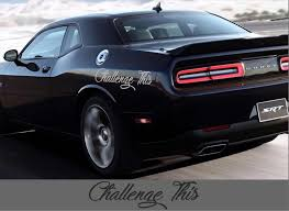 For 2pcs Dodge Challenger Decals Vinyl Stickers Mopar Hemi Side Graphics Srt Hellcat Car Stickers Aliexpress
