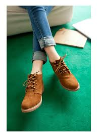 brown vintage casual shoes women