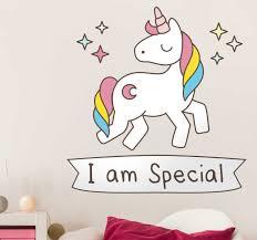 I Am Special Unicorn Wall Sticker Tenstickers