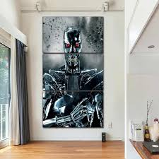 Modern Home Decor Canvas Art Prints 3 Piece Movie Terminator Genisys Poster Wall Modular Picture Decor Framework For Bedroom Painting Calligraphy Aliexpress