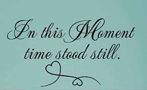 In This Moment Time Stood Still Wall Art Decal Quote Words Lettering Decor For Sale Online